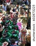 arequipa peru march 2007 people ...   Shutterstock . vector #602873225