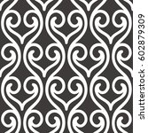 seamless abstract ornament...   Shutterstock .eps vector #602879309