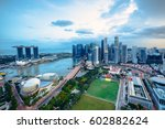 cityscape of singapore city in... | Shutterstock . vector #602882624