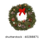 christmas wreath on white... | Shutterstock . vector #60288871