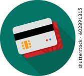 credit card with integrated... | Shutterstock .eps vector #602891315