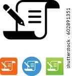 script with pencil icon | Shutterstock .eps vector #602891351