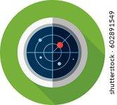 radar symbol  | Shutterstock .eps vector #602891549