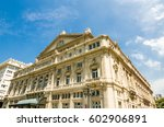 famous landmark of buenos aires ... | Shutterstock . vector #602906891