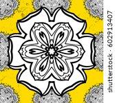 vector pattern on yellow...   Shutterstock .eps vector #602913407