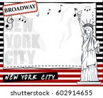 paper template with new york... | Shutterstock .eps vector #602914655