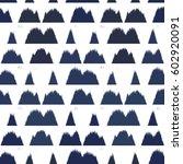 ikat seamless pattern design... | Shutterstock . vector #602920091