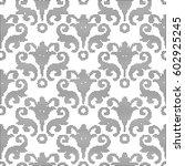 halftone round black seamless...   Shutterstock .eps vector #602925245
