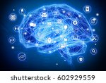 machine learning   artificial... | Shutterstock . vector #602929559