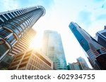 modern business center in... | Shutterstock . vector #602934755