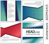 halftone flyer style background ... | Shutterstock .eps vector #602941415