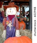 Smiling Scarecrow With Large...