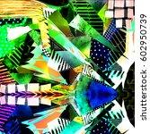 fantasy pattern.watercolor... | Shutterstock . vector #602950739