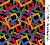 endless abstract pattern.... | Shutterstock .eps vector #602963747