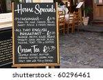 House Special Menu Board With ...