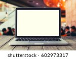 empty  front view of the laptop ... | Shutterstock . vector #602973317