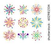 firework vector icon isolated... | Shutterstock .eps vector #602981534