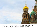 tops and domes of saviour on... | Shutterstock . vector #602990015