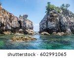 Rock Cliff Emerald Sea In Lipe...