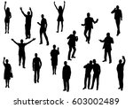 vector  silhouette people are... | Shutterstock .eps vector #603002489