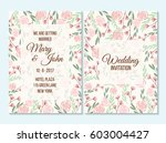 pink and green wedding... | Shutterstock .eps vector #603004427