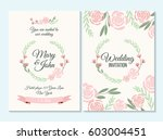 pink and green wedding... | Shutterstock .eps vector #603004451