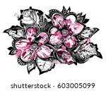 hand drawing of stylized... | Shutterstock . vector #603005099