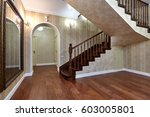 entrance hall  with a beautiful ... | Shutterstock . vector #603005801