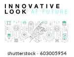 trendy innovation systems... | Shutterstock .eps vector #603005954