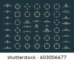 huge rosette wicker border... | Shutterstock .eps vector #603006677