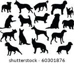 Stock vector dogs silhouette collection vector 60301876