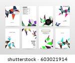memphis geometric background... | Shutterstock .eps vector #603021914