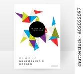 memphis geometric background...   Shutterstock .eps vector #603022097
