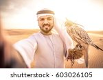 arabic man with traditional... | Shutterstock . vector #603026105