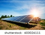 solar panel  photovoltaic ... | Shutterstock . vector #603026111