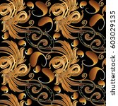 paisley floral seamless pattern.... | Shutterstock .eps vector #603029135