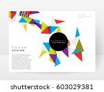 memphis geometric background... | Shutterstock .eps vector #603029381