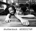 black and white picture of... | Shutterstock . vector #603031769