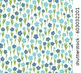 blue meadow flowers. abstract... | Shutterstock .eps vector #603032201