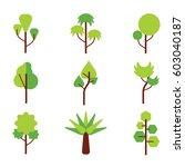 trees vector set | Shutterstock .eps vector #603040187