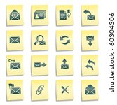 e mail web icons  yellow notes... | Shutterstock .eps vector #60304306