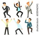 group of satisfied businessmen. ... | Shutterstock .eps vector #603046541