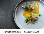 delicious cooked rabbit ...   Shutterstock . vector #603049625