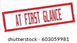 at first glance text  on red... | Shutterstock . vector #603059981