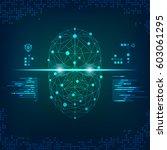 conceptual technological... | Shutterstock .eps vector #603061295