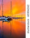 Sailboats In The Marina At...