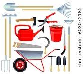 vector drawings with garden... | Shutterstock .eps vector #603072185