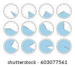 clocks with various times | Shutterstock .eps vector #603077561