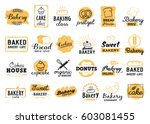 bakery logotypes set. bakery... | Shutterstock .eps vector #603081455