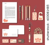 corporate identity templates.... | Shutterstock .eps vector #603081485